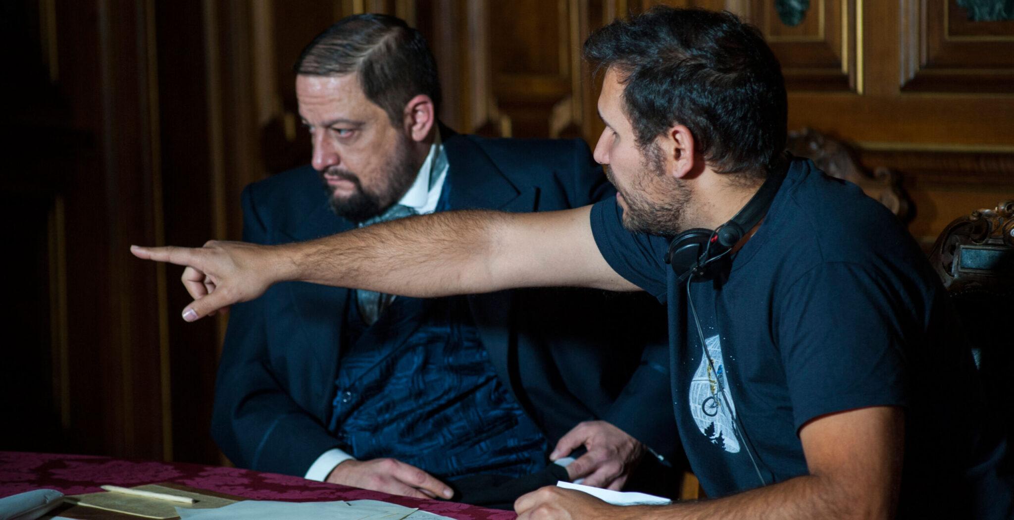 El director Pablo Moreno, durante un momento del rodaje de su última película sobre el fundador de los Misioneros Claretianos