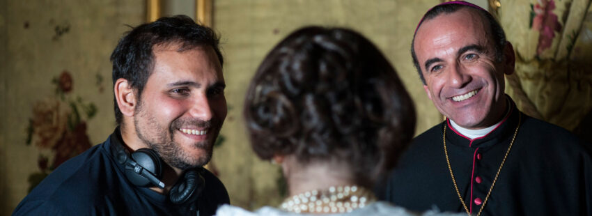Pablo Moreno, durante el rodaje de su película 'Claret'