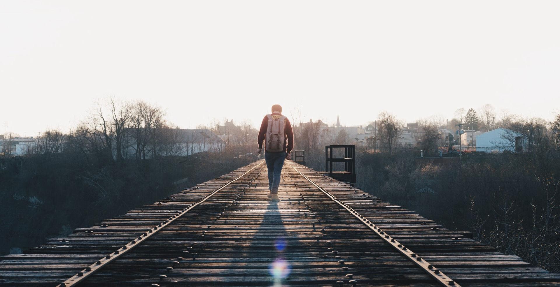 camino vías de tren