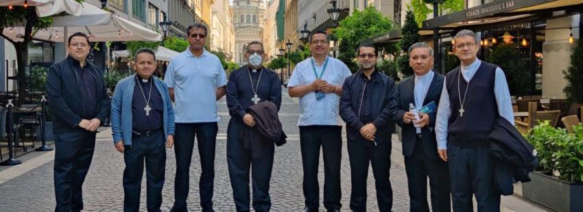 Los obispos ecuatorianos en Budapest