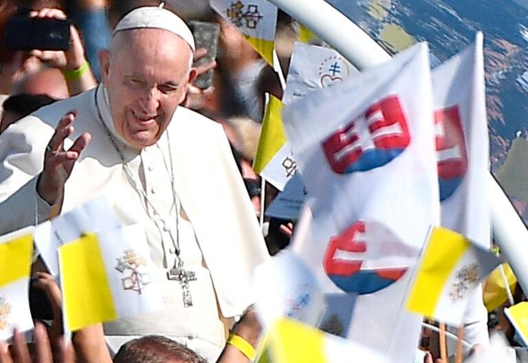 El papa Francisco en Kosice, Eslovaquia