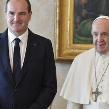 Jean Castex, primer ministro de Francia, con el Papa