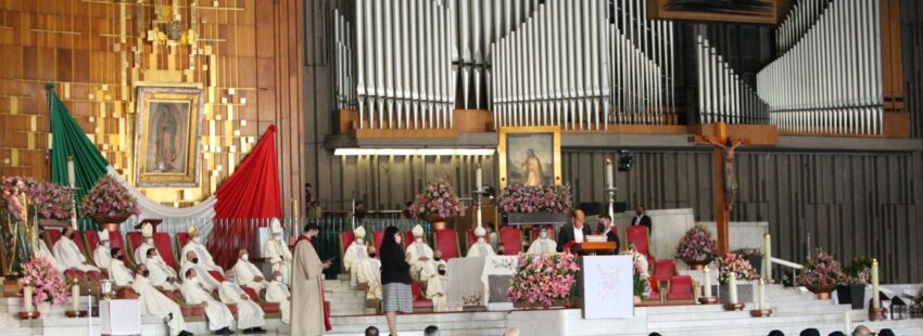Misa en la Basílica de Guadalupe