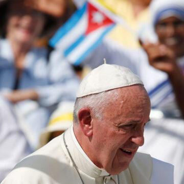 Papa Francisco durante su visita a Cuba