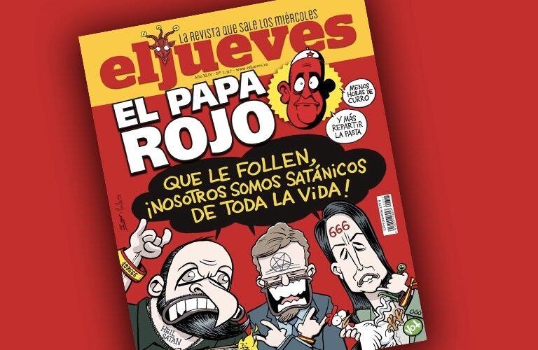 Revista El Jueves Papa rojo
